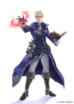 JRPG: Theodore character illustration