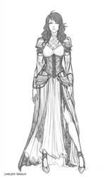 Cassandra Outfit Sketch