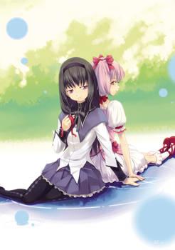 Madoka Fanart(3): Madoka X Homura-1