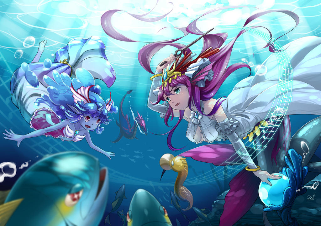 The Deep Sea Symphony by AmberClover