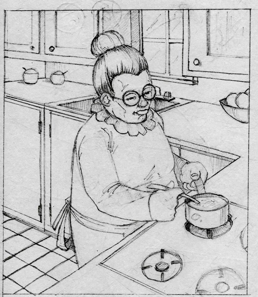 Grandma in the Kitchen by relkavin on DeviantArt
