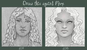 Draw this again Meme - Just a Girl - Hope