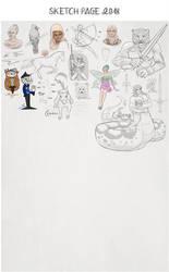 Sketch page in progress by Gnewi