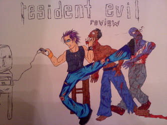 Me playing Resident Evil 2 with imagination ^_^ by ScorePN44