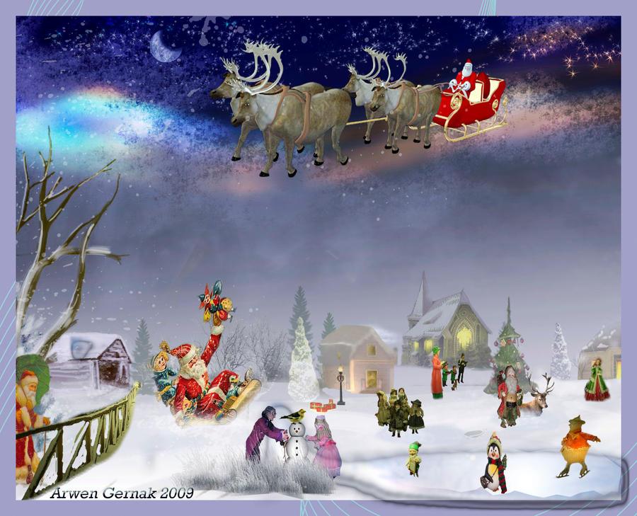 Le Pere Noel se coupe en 4