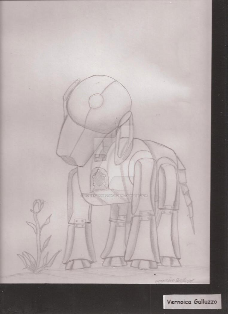 Robots Enjoy Flowers too? by KonekoKaburagi