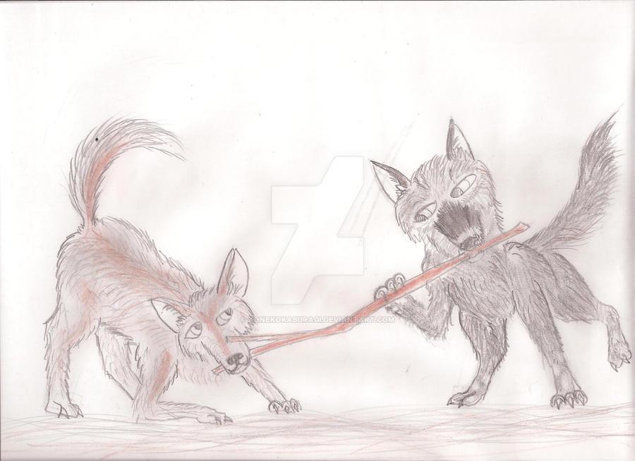 Coyotes by KonekoKaburagi