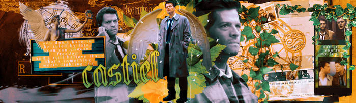 Facebook cover: Castiel. by HelenaGrimm