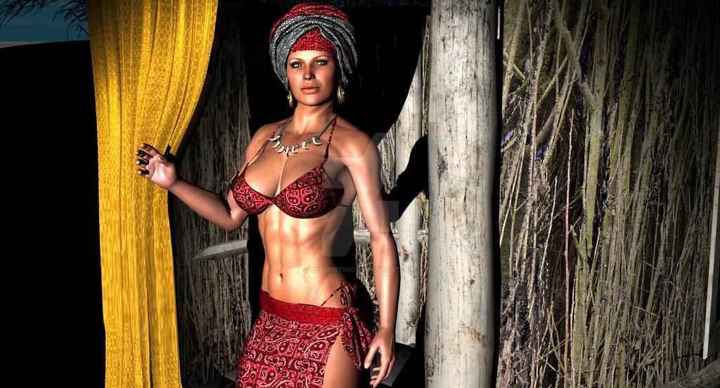 Jungle Chica by vesubio79dc
