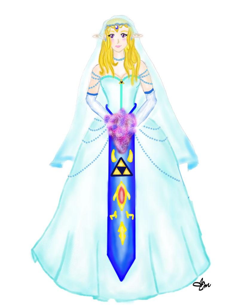 Zelda 39 s wedding colored by x3khloverx3 on deviantart for Legend of zelda wedding dress