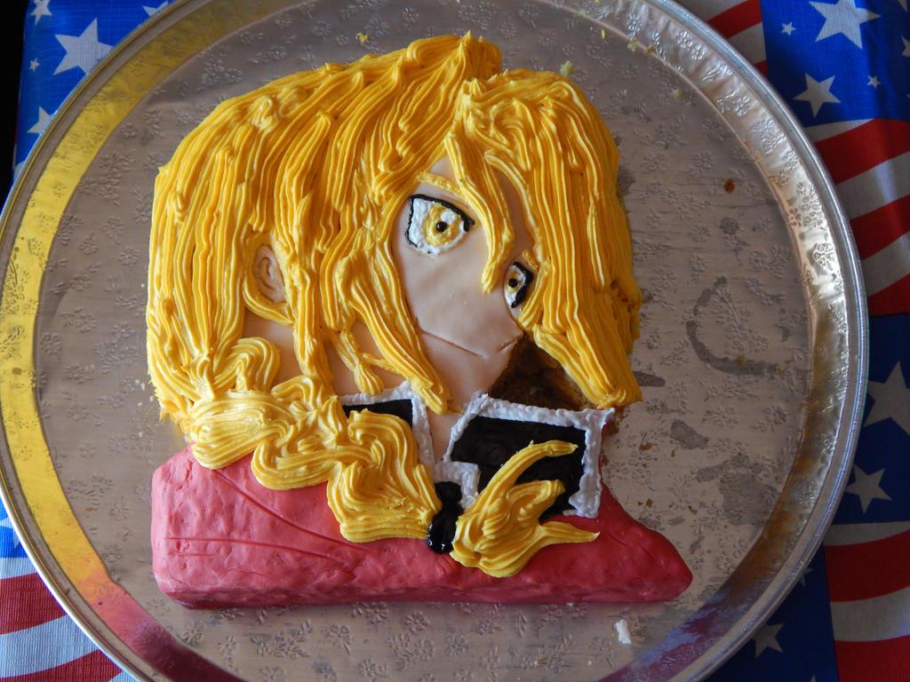 Edward Elric cake XD by x3KHloverx3