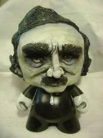 Edgar Allen Poe Munny by MissNicka