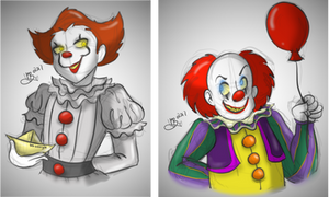 IT | The Pennywises (colored)
