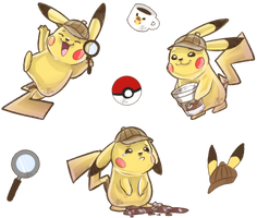PKMN | Detective Coffee Addict Stickers by MynnuB