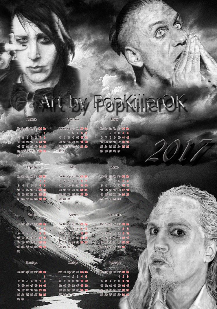 The calendar from PopKillerOK by PopKIllerOK