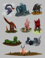 :CREATURES GALORE: by UsagiSasami