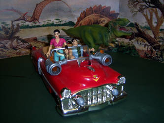 Cadillacs and Dinosaurs - Drivin' that Caddy by WeirdFantasticToys