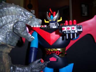 Great Mazinga vs Godzilla by WeirdFantasticToys