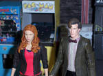 The Doctor and Amy in the Arcade
