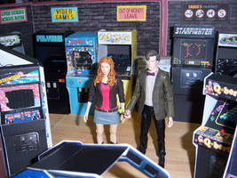 The Doctor and Amy in the Arcade II by WeirdFantasticToys