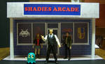 Shadies Arcade Storefront Diorama with figures