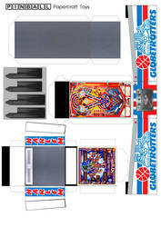 Globetrotters Pinball Machine Papercraft Template by WeirdFantasticToys