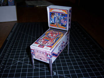 Evel Knievel Pinball Machine Papercraft by WeirdFantasticToys