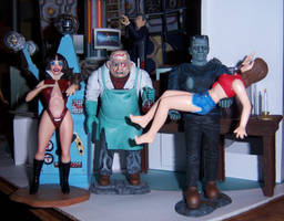 Frankenstein Captures The Victim by WeirdFantasticToys