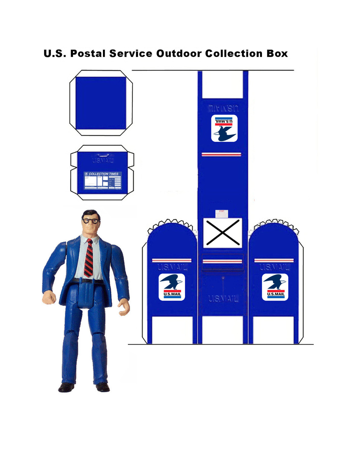 Papercraft USPS Mailbox by MisterBill82