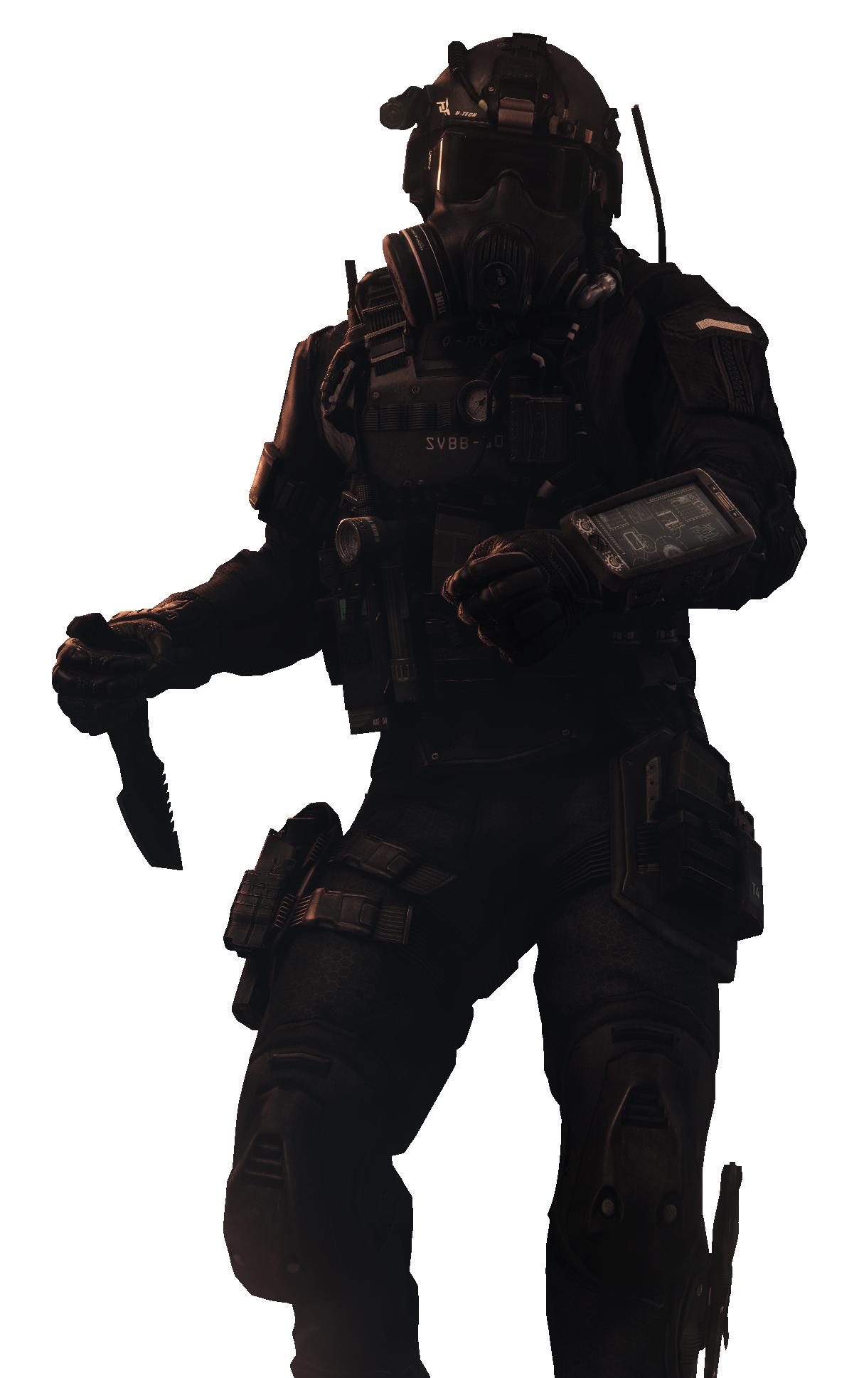 Call Of Duty Ghosts Knife Soldier Render By Ldelva On Deviantart