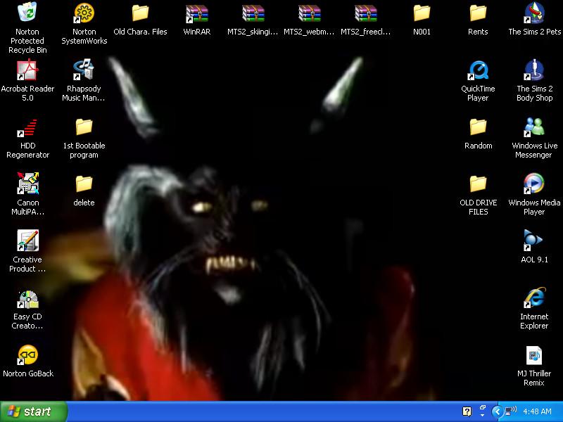 Thriller Desktop by MoonlitTear