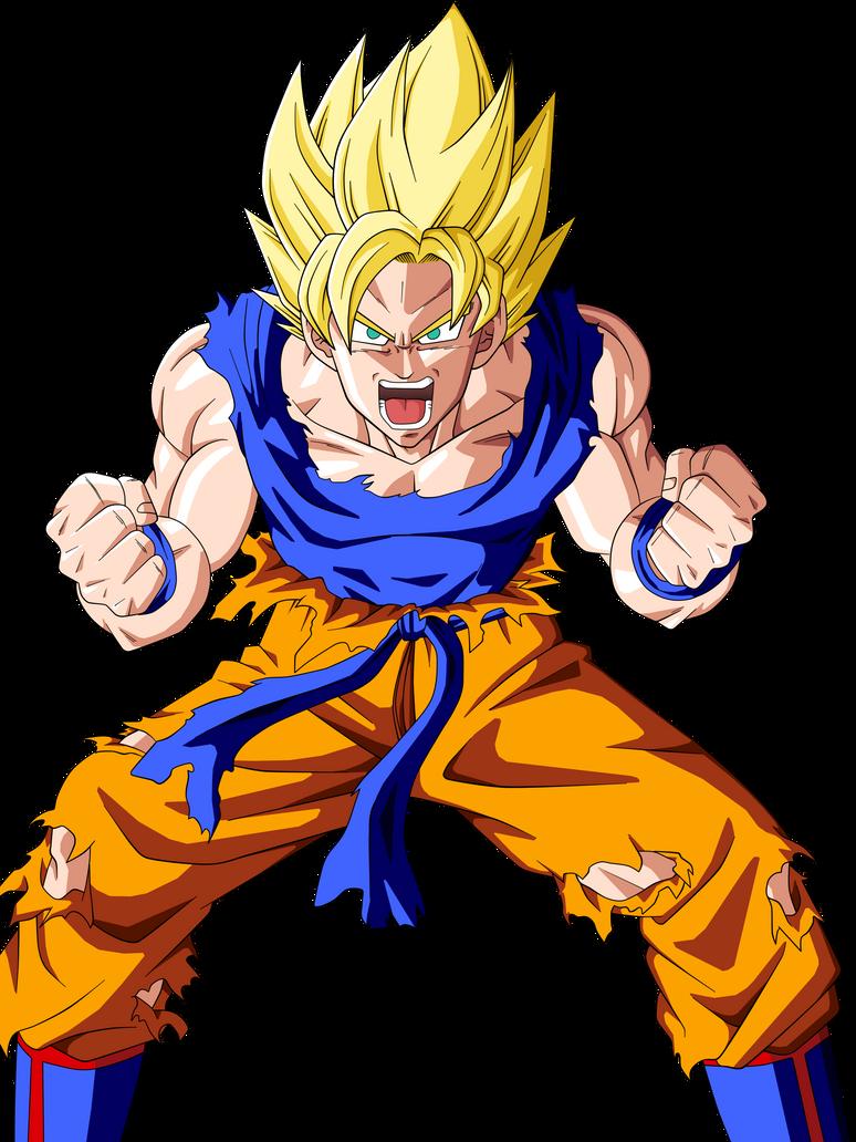 Goku SSJ by BardockSonic on DeviantArt