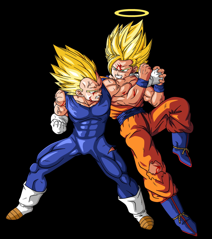 Goku VS Majin Vegeta by BardockSonic on DeviantArt