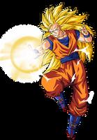 Goku super saiyan 3 by BardockSonic