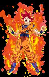Goku Super Saiyan God 2 by BardockSonic