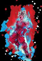 Goku super saiyan Blue kaioken x10 by BardockSonic