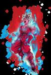 Goku super saiyan Blue kaioken x10