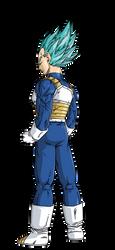 Vegeta Super Saiyan Blue espaldas by BardockSonic