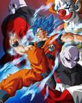 Goku, Jiren y Vermouth