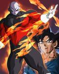 Jiren VS Goku by BardockSonic