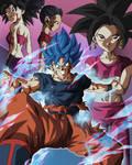 Goku Blue VS Kefla by BardockSonic