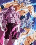 Goku Ultra Instinto VS Jiren by BardockSonic