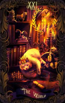 Tarot Cats I - 21 The World v.1D