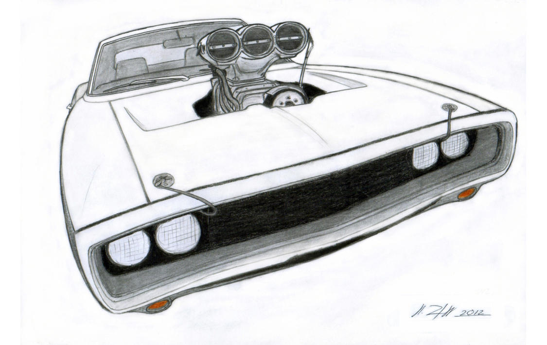 1970 Dodge Charger RT Drawing by Vertualissimo on DeviantArt
