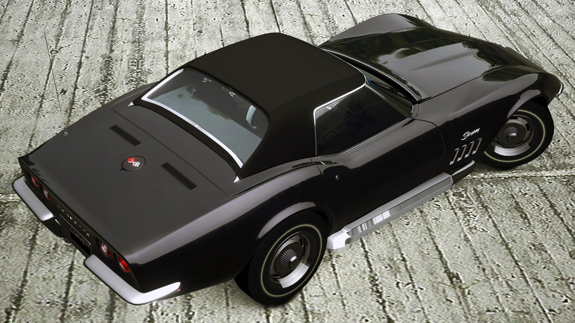 1969 chevrolet corvette stingray convertible gt5 by vertualissimo - Corvette Stingray 1969 Wallpaper