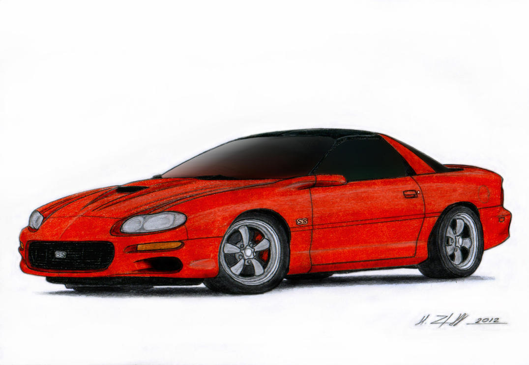 2002 Chevrolet Camaro SS Drawing by Vertualissimo on ...
