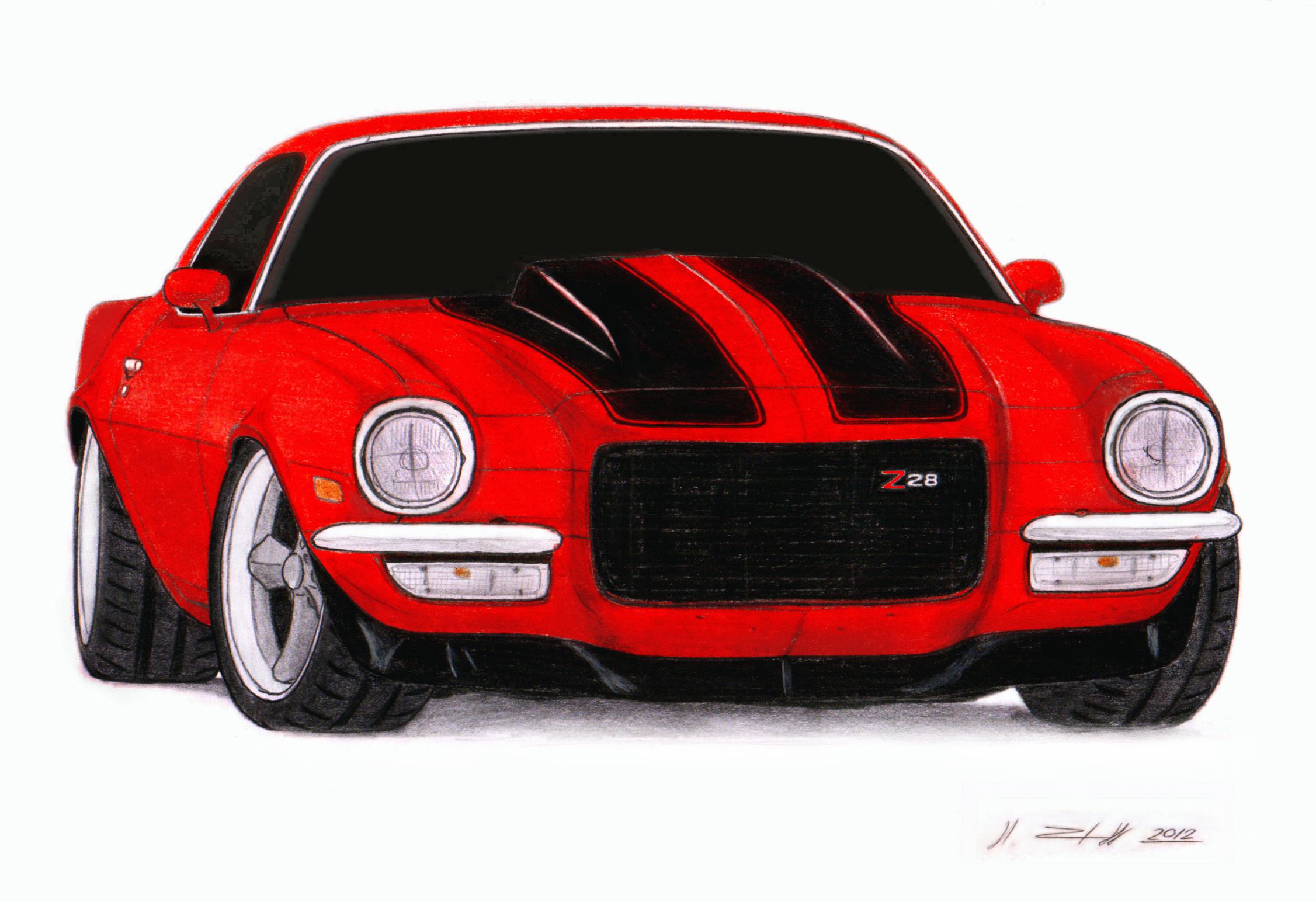 1972 chevrolet camaro z28 pro touring drawing by cougar clip art free cougar clipart for schools