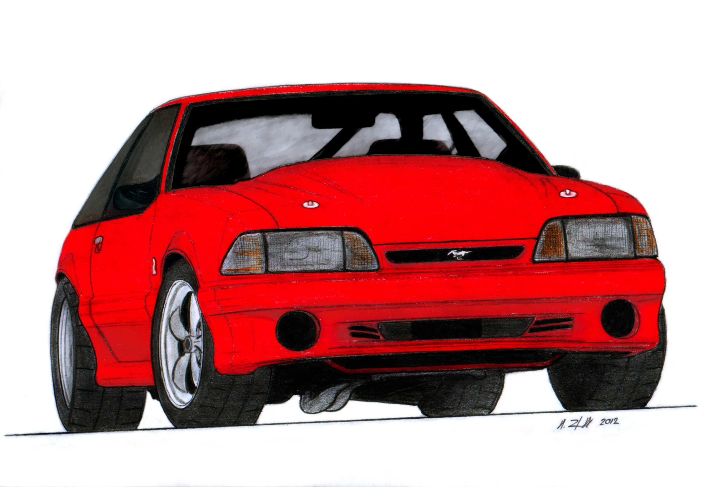 1993 Ford Mustang Cobra Drawing By Vertualissimo On Deviantart