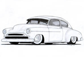 1949 Chevrolet Fleetline Custom Coupe Drawing by Vertualissimo