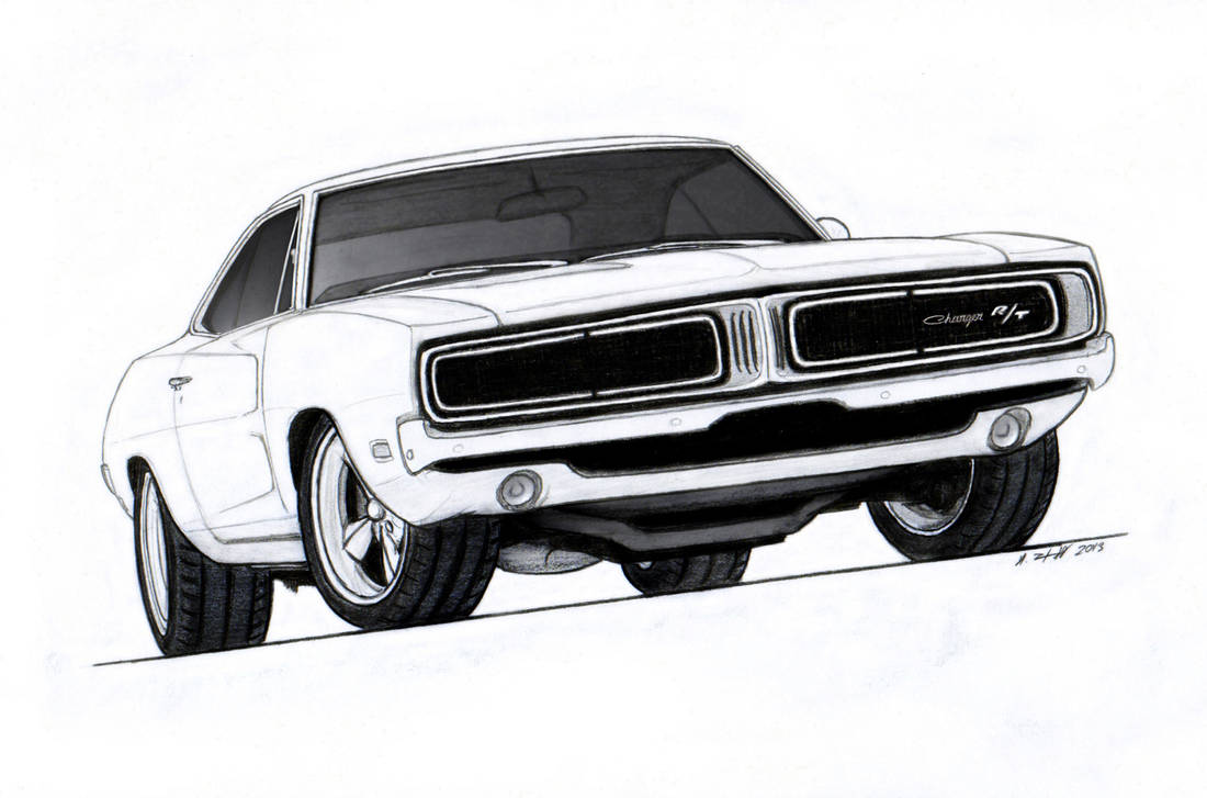 1969 Dodge Charger R/T Pro Touring Drawing